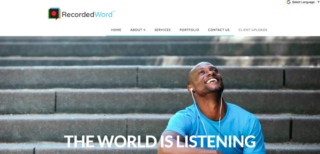 recorded word best x theme websites 2017